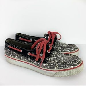 Sperry Shoes - Sperry Sequined Baroque Top Sider Loafer Shoes 7M
